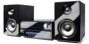Dual MS 110 CD Stereoanlage mit FLT Display (CD-Player (MP3), RDS-PLL-Radio, 75 Ohm, USB-Anschluss, AUX-In, Kopfhöreranschluss, Fernbedienung) schwarz