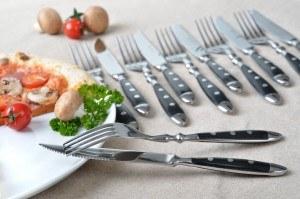 GRÄWE® 12-teiliges Steakbesteck / Pizzabesteck 'Nürnberg', geschmiedet