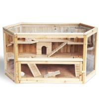 Hamsterkäfig-Nagerstall-Massivholz