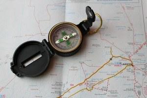 Karte-Kompas