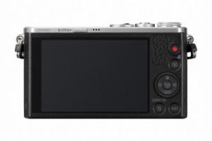 Die Panasonic Lumix DMC-GM1 Systemkamera einen großen Bildschirm.
