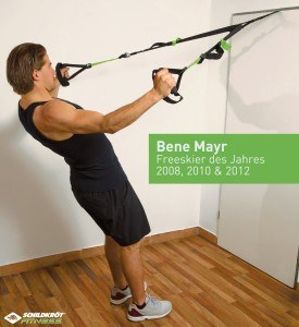 Der Schildkröt Fitness Schlingentrainer ist vielseitig einsetzbar.