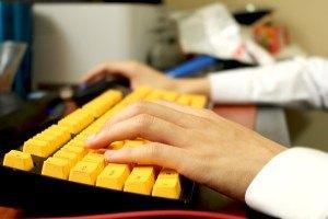 Schreiben-Tastatur