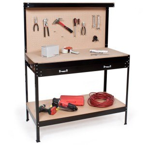 TecTake® Werkbank 160 x 120 x 60 cm Werktisch Werkzeugbank Werkplatte Basteltisch mit Schublade