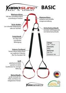 Mit dem Variosling Sling Trainer sind zahllose Übungen möglich.