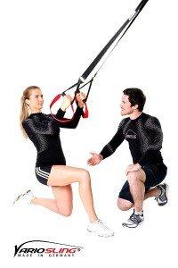 Der Variosling Sling Trainer ist optimal für unterwegs.
