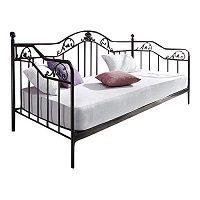 moebel direkt online Day-Bed / Einzelbett / Metallbett schwarz