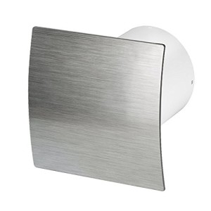 Badlüfter Wand-Ventilator Ø 100 Kugellager Wandventilator Silent Standard Escudo - Line System+ (silber gebürstet)