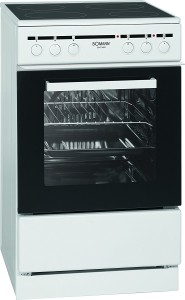 Bomann EHC 3553 Herd Elektro / A / 49 L / Glaskeramik-Kochfeld / weiß [Energieklasse A]
