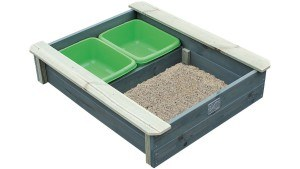 EXIT 52.05.01.00 - Aksent Sandkasten mit Deckel (inkl. zwei Kunststoffbecken)