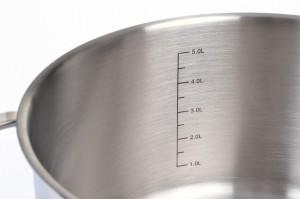 GRÄWE® Kochtopf 24 cm, mit 5 Liter-Skala, Serie 'Pro-Line'
