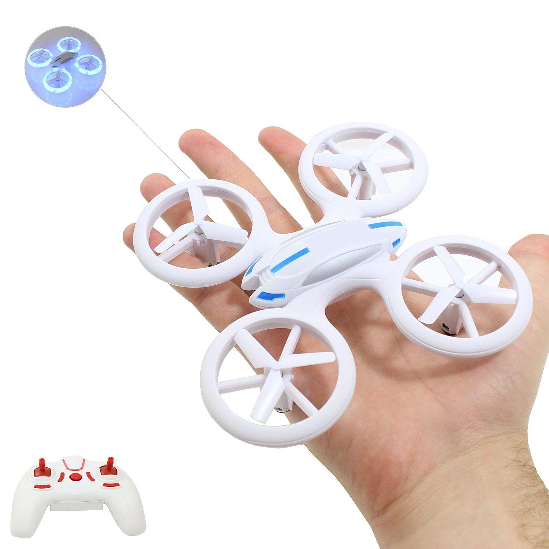 Smart Planet Hochwertige Kleine Mini Drohne. Drone Mit Auffälliger LED Beleuchtung