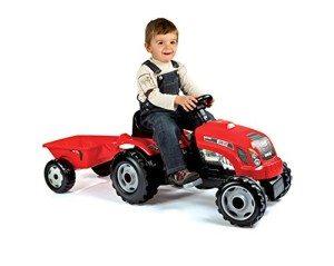 Smoby 7600033045 - GM Traktor mit Anhänger, rot