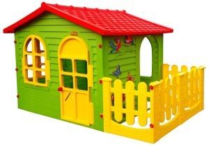 Spielhaus Kinderspielhaus mit Terrasse XXL für drinnen und Draußen Gartenhaus Kinderhaus Kinder Spiel Haus Gartenhaus