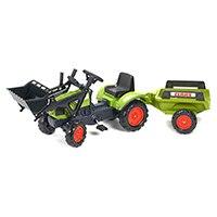 FALK Tret-Traktor Claas mit Hänger + Lader 2-5 Jahre.