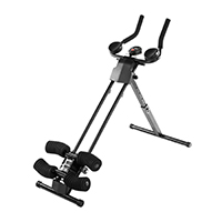 Ultrasport Bauchtrainer Ultra 150 Curved- Fitness Power AB Trainer, faltbar