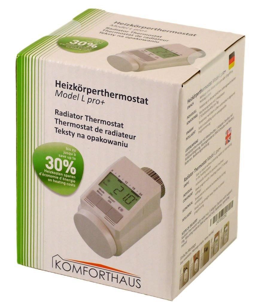Komforthaus Heizkörperthermostat Classic Typ L Neues Leises Modell Pro Version Inkl. Stabiler Metallmutter1