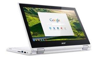 Acer Chromebook R 11 (CB5-132T-C732) 29,5 cm (11,6 Zoll HD) Convertible Notebook (Intel Quad-Core N3150, 4GB RAM, 32GB eMMC, Google Chrome OS) weiß