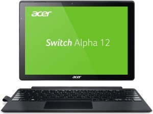 Acer Switch Alpha 12 (SA5-271-53QS) 30,5 cm (12 Zoll QHD IPS) Convertible Notebook (Intel Core i5-6200U, 8GB RAM, 256GB SSD, Intel HD Graphics 520, Win 10) silber