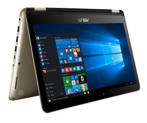 Asus Transformer Book Flip TP301UJ-C4097T 33,7 cm (13,3 Zoll FHD Touch) Notebook (Intel Core i7-6500U, 8GB, 512GB SSD, Nvidia 920M, Win10) gold
