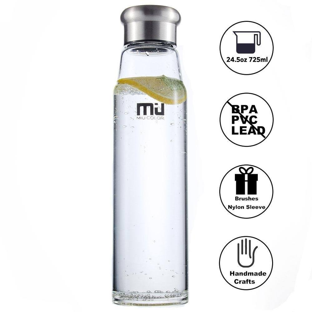 MIU COLOR Stilvolle Tragbare Glasflasche