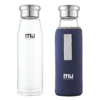 Die Trinkflasche aus Glas von 'MIU COLOR' im Vergleich