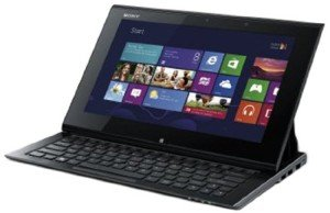Sony VAIO Duo SVD1121X9EB 29,4 cm (11,6 Zoll Touch) Convertible Ultrabook (Intel Core i5 3317U, 1,7GHz, 4GB RAM, 128GB SSD, Intel HD 4000, Win 8 Pro) schwarz