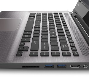 Toshiba Satellite Radius 14 L40W-C-10Z 35,56 cm (14 Zoll HD) Convertible Notebook (Intel Core i3-5015U, 4GB RAM, 1TB HDD, Intel HD Graphics 5500, Win 10) gebürstetes Aluminiumgehäuse