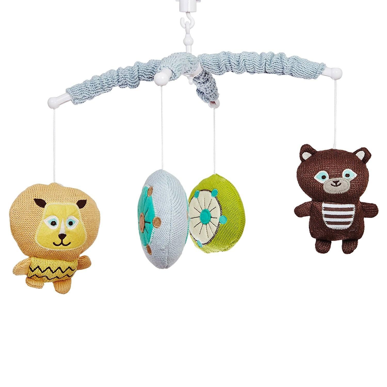 SmileBaby Musik Mobile Babybett Spieluhr Verschiedene Tiermotive Bär Löwe1