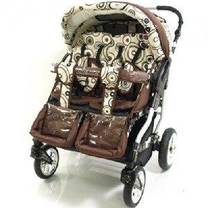 Buggy Duo von Adbor mit zweifachen Babyschalenadapter in der Frontansicht