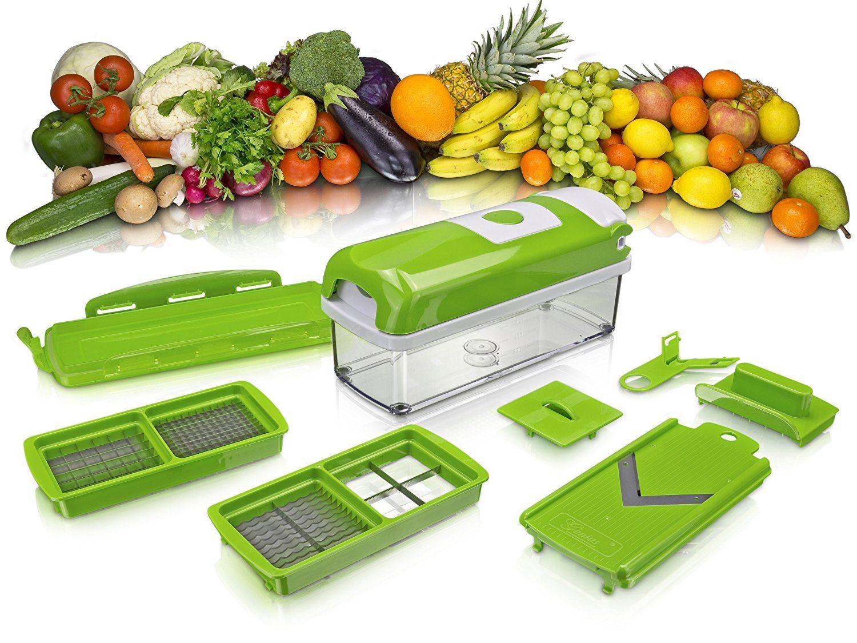 Genius Nicer Dicer Kompakt Plus Set 7 Tlg. Gemüse Obst Multi Schneider.1