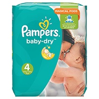 Pampers Baby Dry Windeln, Monatspackung
