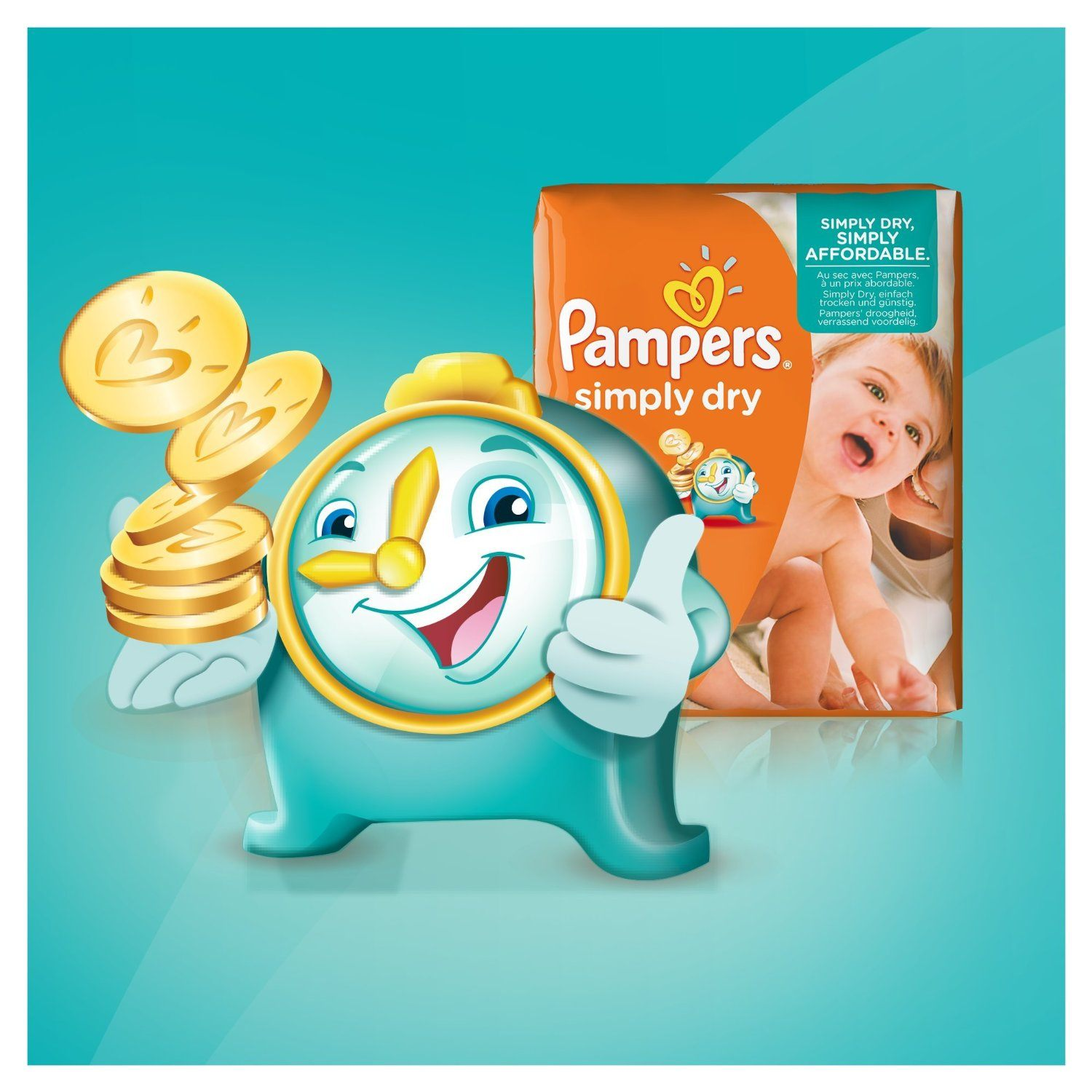 Pampers Simply Dry Windeln1
