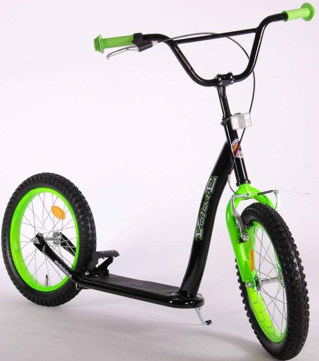Roller Volare 16 Zoll Schwarz Grün Roller Mit Luftbereifung Für Kinder Ab 7 Jahren