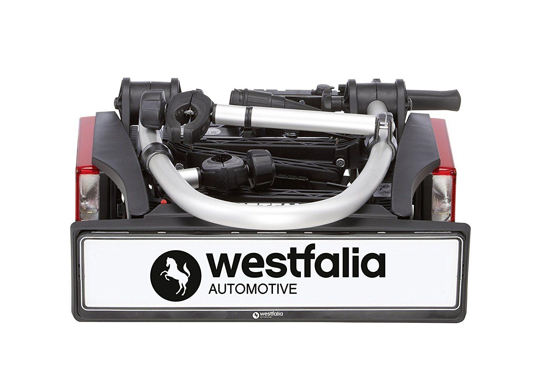 Heck-Fahrradträger von Westfalia platzsparend eingeklappt