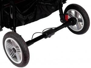 Sport-Duo Zwillingskinderwagen von Zekiwa mit Bremse für sichere Handhabung
