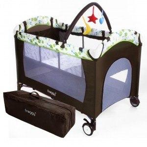 Froggy® Kinderreisebett CPL02 Braun
