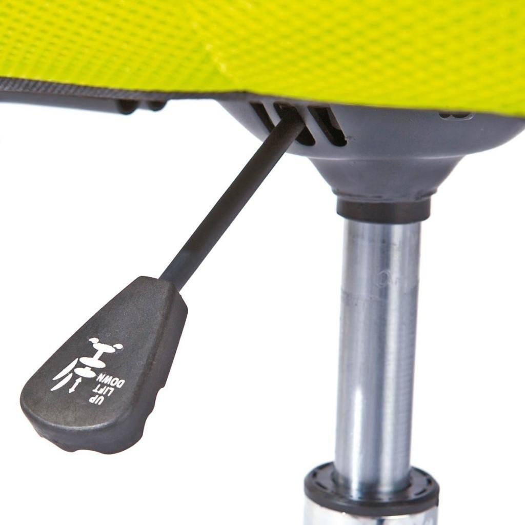 Links 99803154 Schreibtischstuhl Für Kinder Höhenverstellbar Metallfuß Mesh PU 43 X 56 X 88 98 Cm Grün