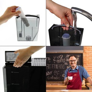 Melitta E 957-103 Kaffeevollautomat Caffeo Solo & Perfekt Milk (Cappuccinatore) silber mit abnehmbaren Wasserbehälter