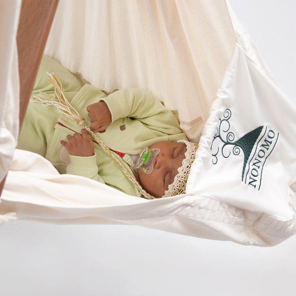 NONOMO Federwiege Hängewiege Babyhängematte 0 15 Kg Bio Baumwolle 4