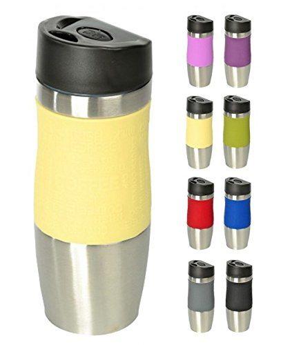 WELLGRO® Thermobecher 400 Ml Edelstahl Isolierbecher Farbe Wählbar