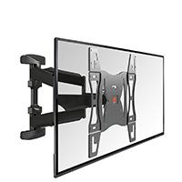 Der LED/LCD Wandhalter Base 45 L ist für Fernseher von 40 bis 65 Zoll (102 bis 165 cm) und einem Gewicht bis 45 kg ausgelegt.
