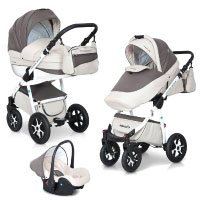 3in1 Kombi Kinderwagen Mondo Ecco Baby Leder Version Alu Tech Komplett Set