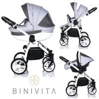 Binivita® Isabel White Collection Kinderwagen Kombikinderwagen