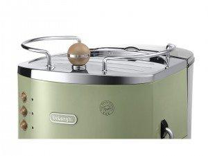 Warmhalteplatte von der DeLonghi ECOV 311.GR Espresso-Siebträgermaschine