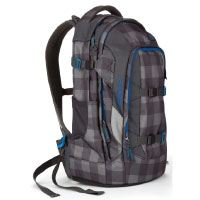 Satch Schulrucksack Pack Checkplaid 9B0 grau schwarz kariert