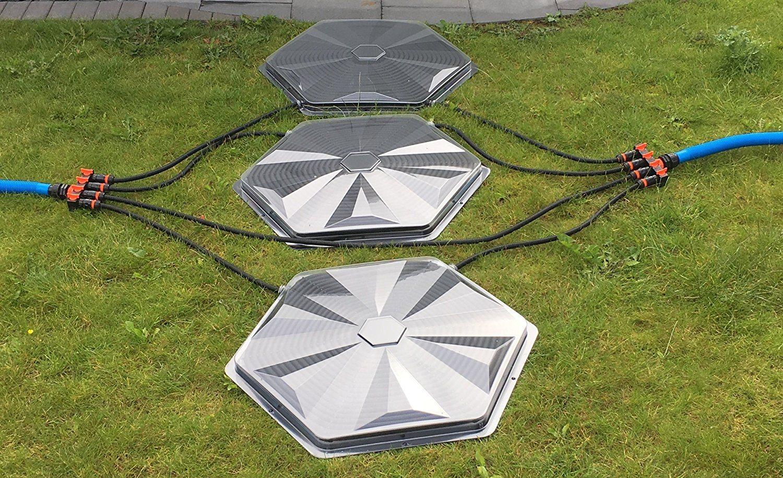 Turbo Sunny Solar Poolheizung 32mm Anschluss 3er Set 365W Heizleistung Pro Sonnenkollektor Warmer Badespaß Für Ihren Pool Im Garten Test
