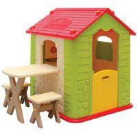 LittleTom Eyepower Kinderspielhaus mit Tisch und 2 Bänken
