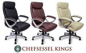 Kings Chefsessel in drei verschiedenen Farben