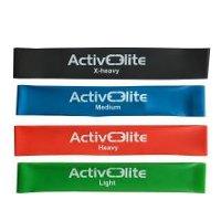 ActiveElite Fitnessbänder 4er-Set mit Transportbeutel